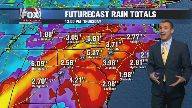 Weekend rain possible, heavier rain expected next week