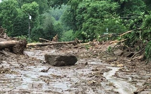 Mudslide in Polk Co. (5/19/18 FOX Carolina)