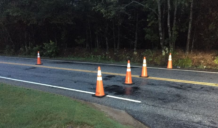 Area where Stallings Road is closed (FOX Carolina/ May 29, 2018)