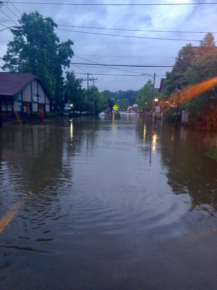 A look at the flooding on Sweeten Creek Road in Asheville (Source: AFD)