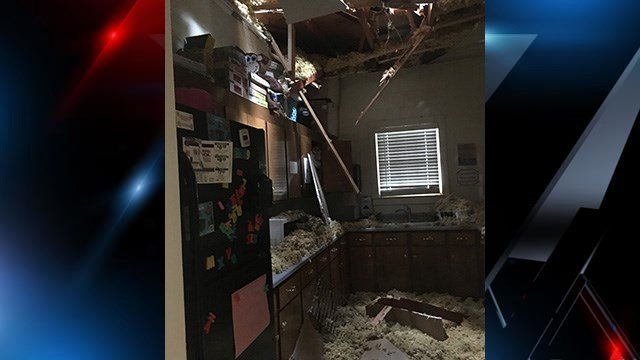 Damage at Bobby Pearse Community Center. (5/30/18 FOX Carolina)