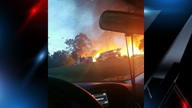 Business fire in Spartanburg County (Courtesy of Desireé Ledford)