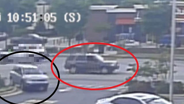 Police say the red circled car belongs to the suspect. (Source: GPD).