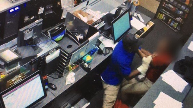 Clerk assaulted during convenience store robbery (Source: Greenville PD)