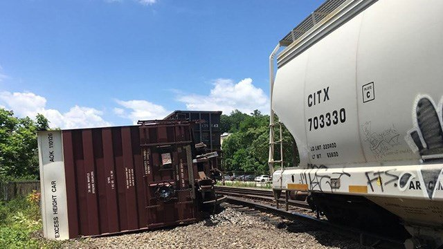 Train derailment in Asheville. (Source; APD)