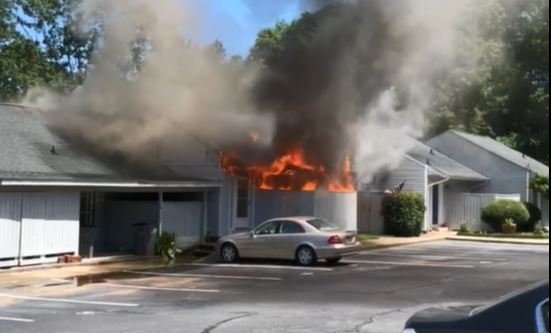 Condo fire in Greenville County (Source: Greg Payne)