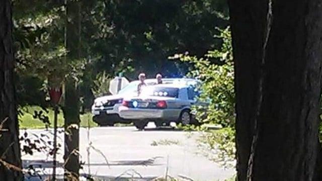 Scene of police chase in Belton. (6/4/18 FOX Carolina)