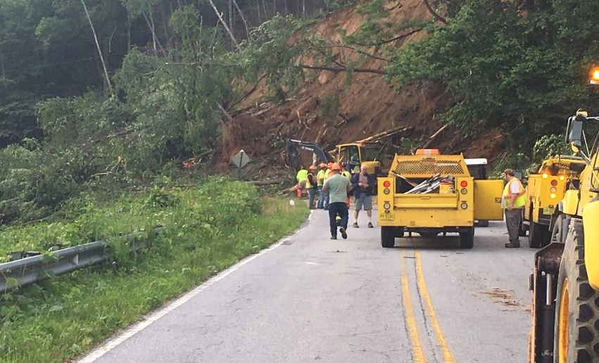 land slide in Henderson County (FOX Carolina/ June 5, 2018)