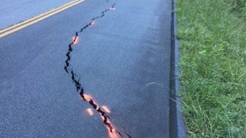 Cracking roadway on Blue Ridge Parkway (Source: Blue Ridge NPS)