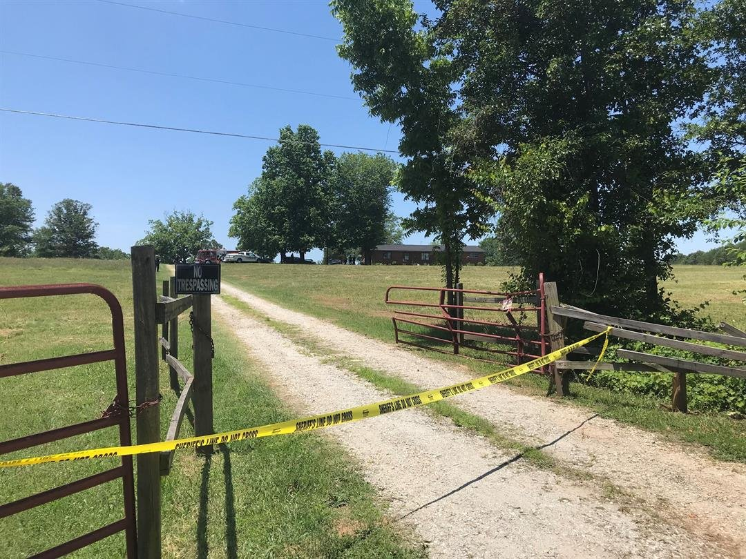 Crime scene tape outside the home where deputies said the suspect fired shots (FOX Carolina/ June 7, 2018)