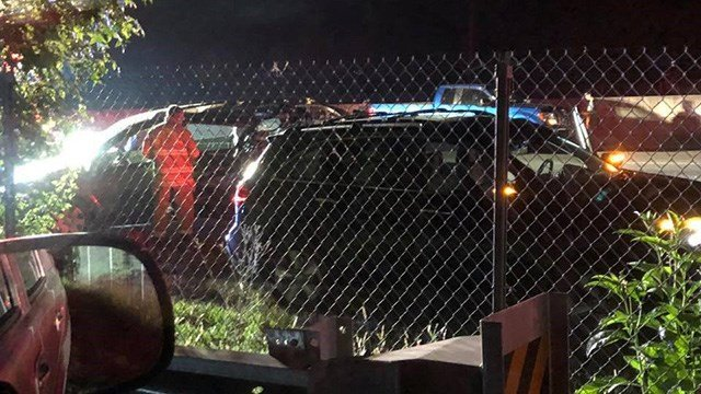 Collision blocking all lanes in Simpsonville. (Credit: Adonis Marrero)