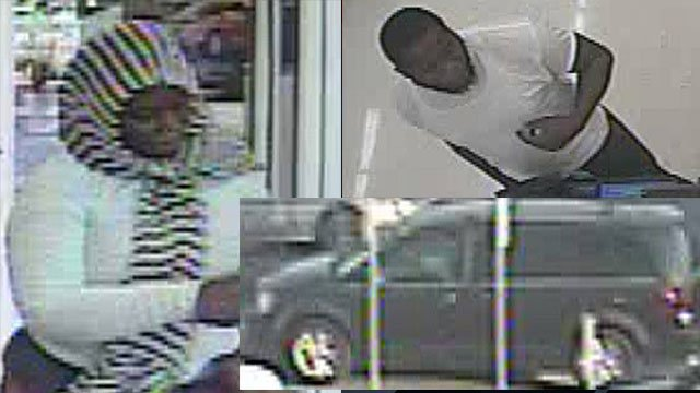 Surveillance images of the suspects and their vehicle (Source: GPD)