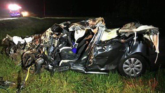 Car involved in deadly Laurens Co. collision.