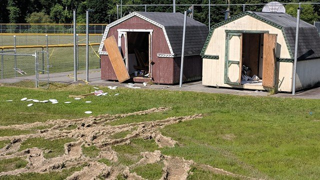 Henderson County Youth Softball League vandalized. (Source: HCYS)