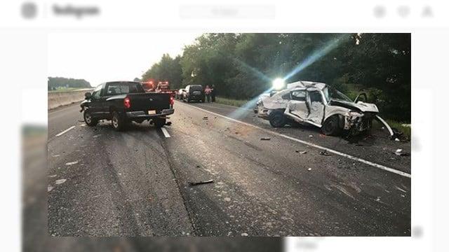 Scene of fatal crash in Anderson Co. (Source: Piercetown Fire Department)