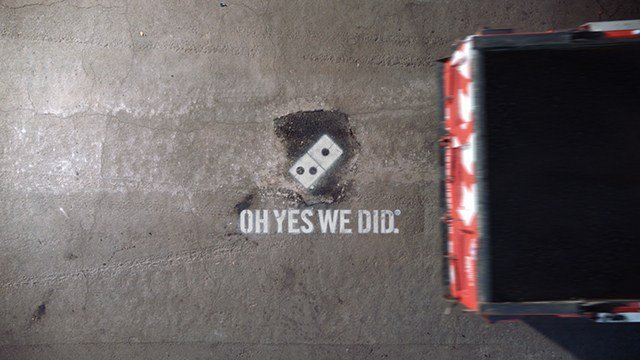Paving for Pizza (Source: Domino's Pizza)