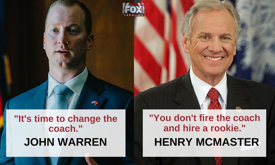 John Warren and Henry McMaster head to runoff (file/FOX Carolina)
