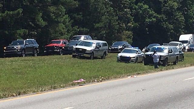 Scene of fatal crash on I-85 in Anderson. (6/16/18 FOX Carolina)