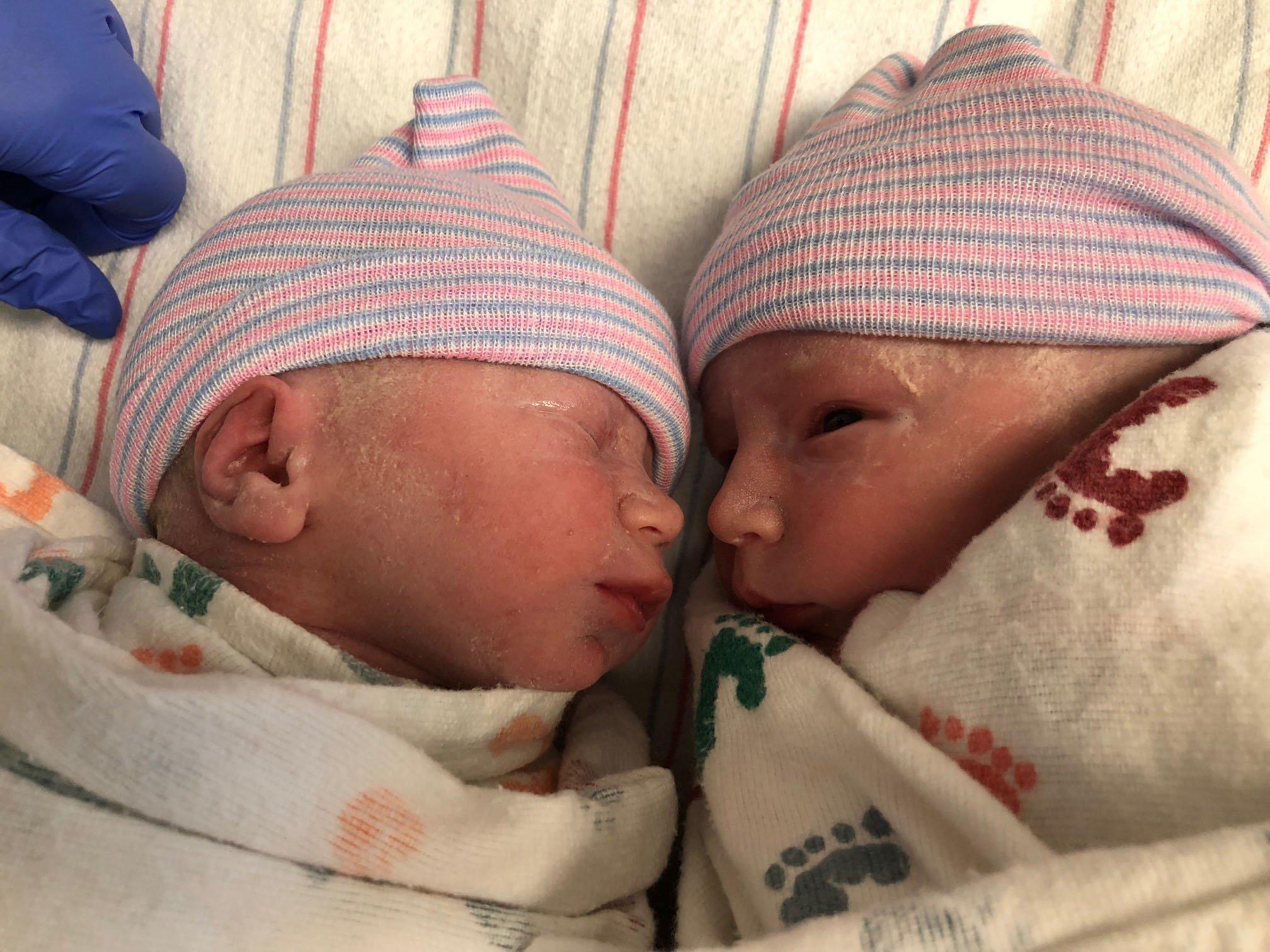 Twin babies Dean and Nolan (Source: Kendra Kent)