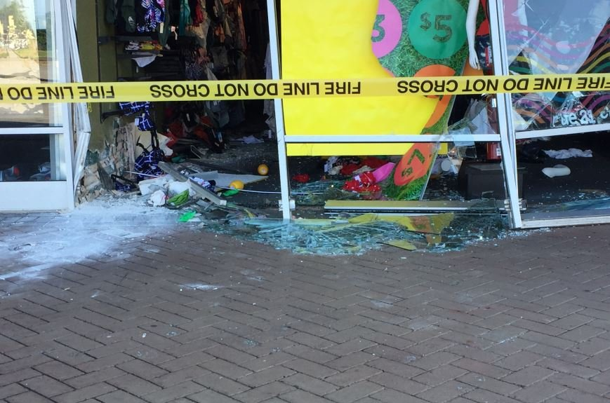 Damage to the building (FOX Carolina/ June 19, 2018)