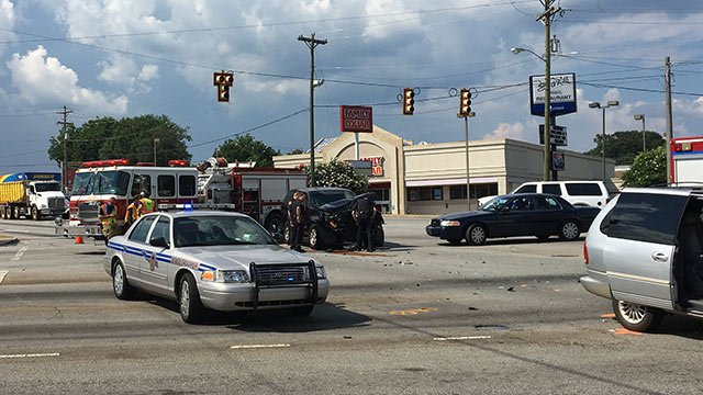 Deputy-involved crash (June 19, 2018/FOX Carolina)