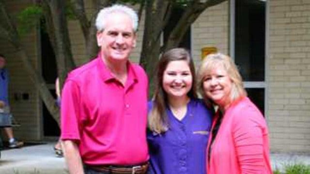 Sarah Eagle (center). (Source: Family)