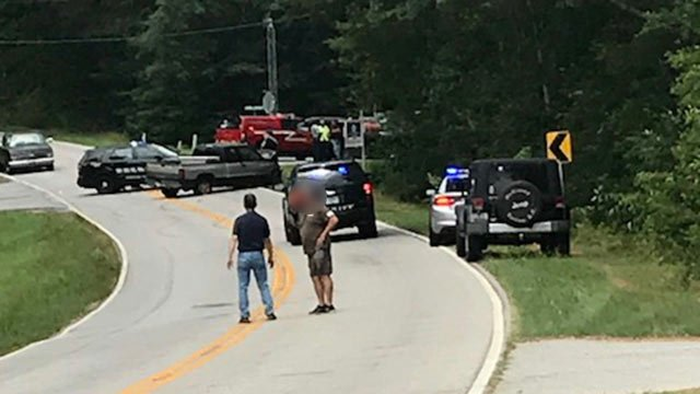 Crash on Flat Rock Road (June 21, 2018/FOX Carolina)