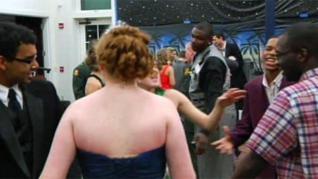 Teens dance the night away at the Joy Prom held at Wofford. (Mar. 1, 2012/FOX Carolina)