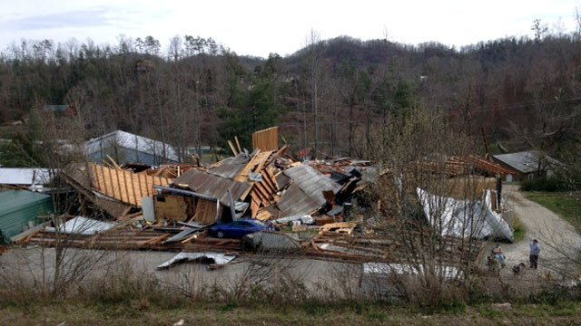 The remains of a building in Murphy, NC, after a tornado swept through ...: www.foxcarolina.com/story/17073684/murphy-tornado-aftermath-the...