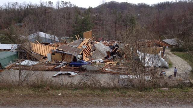 A tornado tore through Murphy, NC, Friday as severe weather moved through the South and Midwest. (Mar. 3, 2012/FOX Carolina)