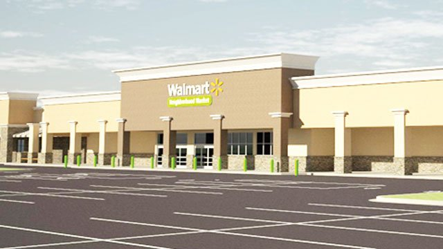 An artists rendering of the new Walmart store set to open in Greer. (The Greer Citizen)