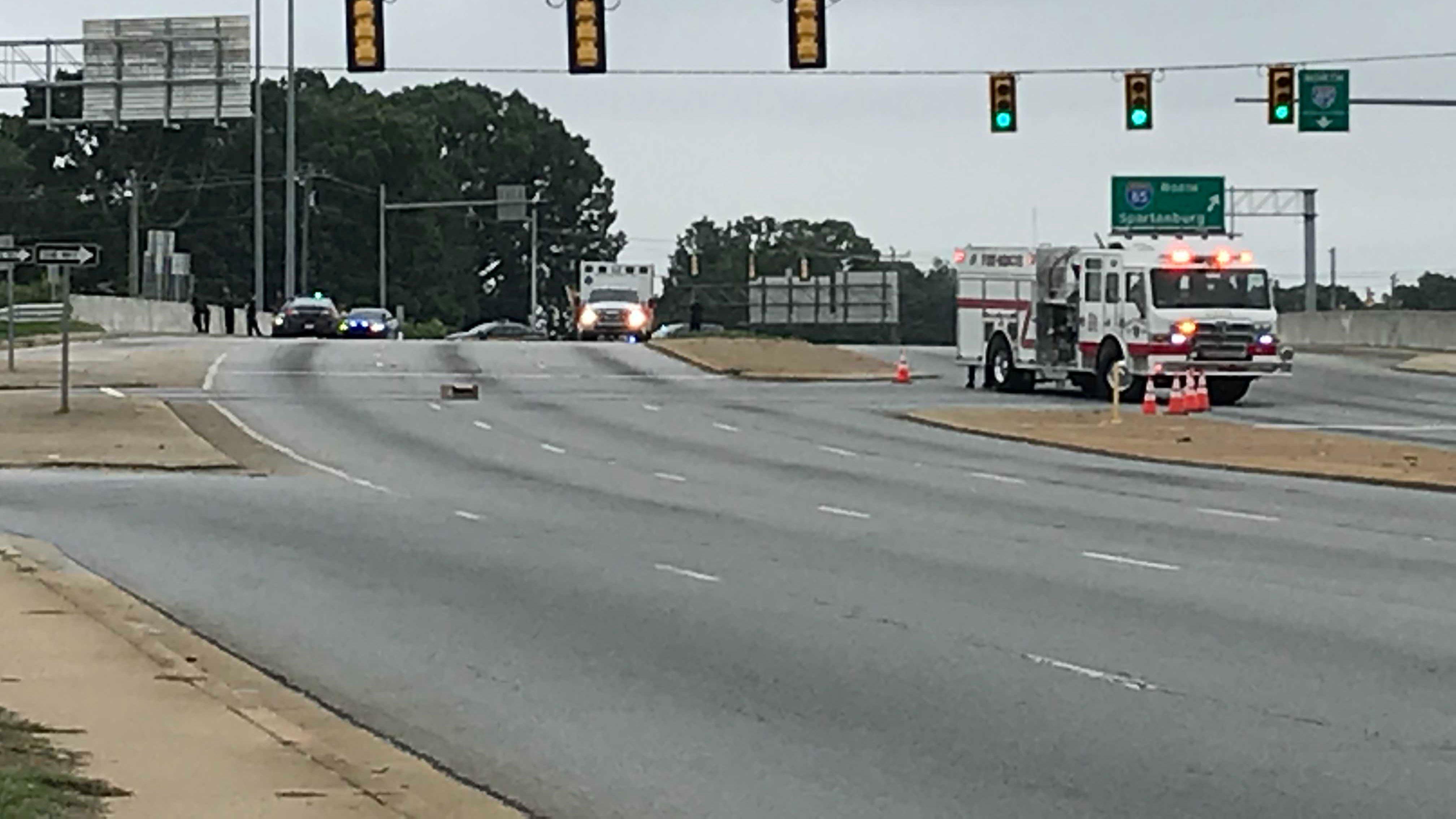 Emergency responders on scene at White Horse Road. (FOX Carolina/ 7-7-2018)