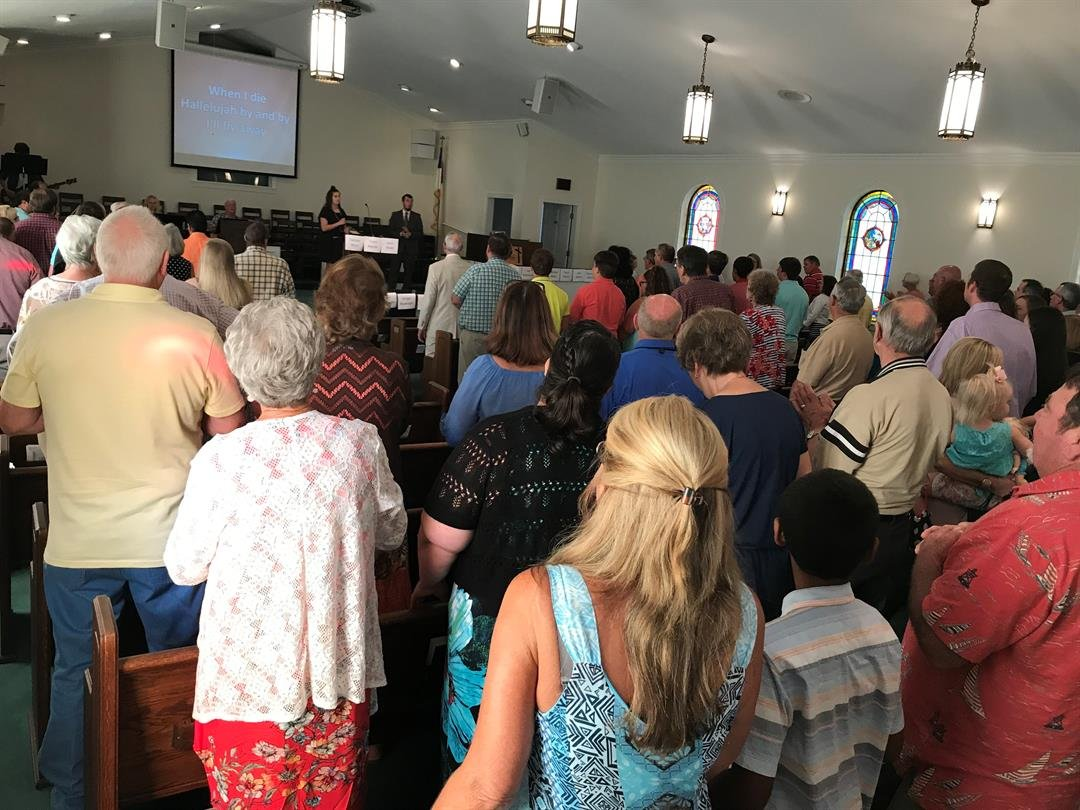 Sunday service at Mount Olivet Baptist (July 8, 2018/FOX Carolina)