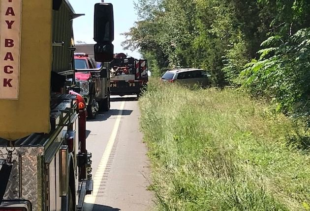 Scene of the crash on US 178 (FOX Carolina/ July 10, 2018)