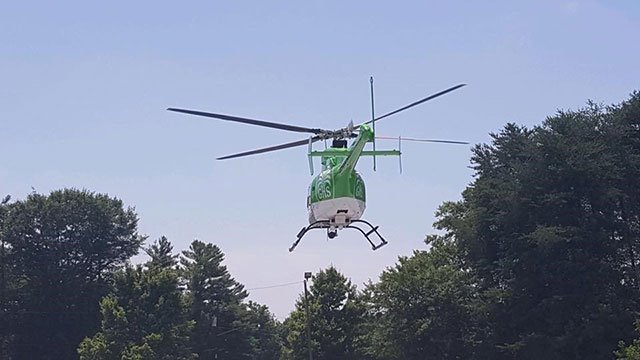 The GHS helicopter that transported the boy to Augusta Burn Center. (Photo: Spartanburg Dire Department/ July 10, 2018)