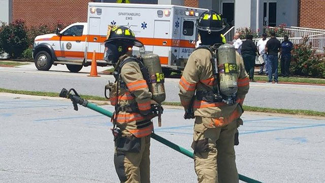 The crew responding to the scene. (Photo: Spartanburg Fire Department/ July 10, 2018)