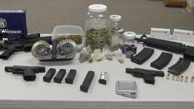 The evidence collected by Seneca PD during Wright's arrest. (Photo: Seneca Police Department/ July 11, 2018)