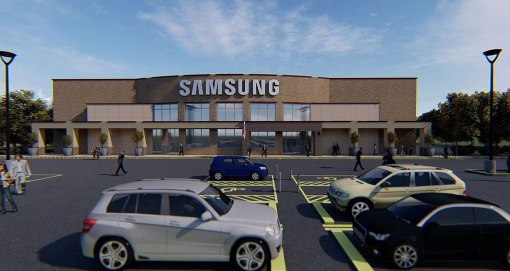 Artist rendering of the Samsung Customer Care Center (July 12, 2018)