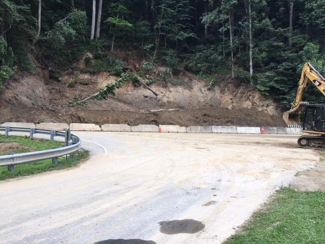 Mudslide on U.S. 74 (July 16, 2018/FOX Carolina)
