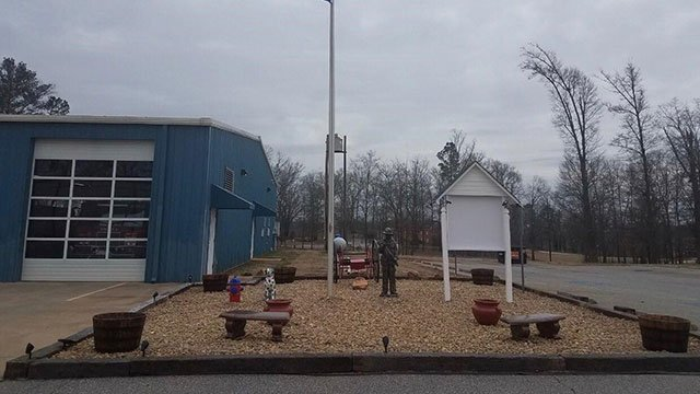 The memorial garden outside of the Una fire station (Courtesy photo)