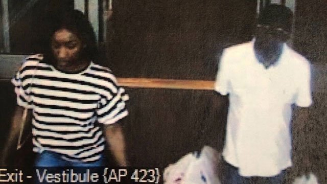 A surveillance photo of the two suspected credit card thieves, originally taken July 8, 2018 (Photo courtesy: Greer Police Department)