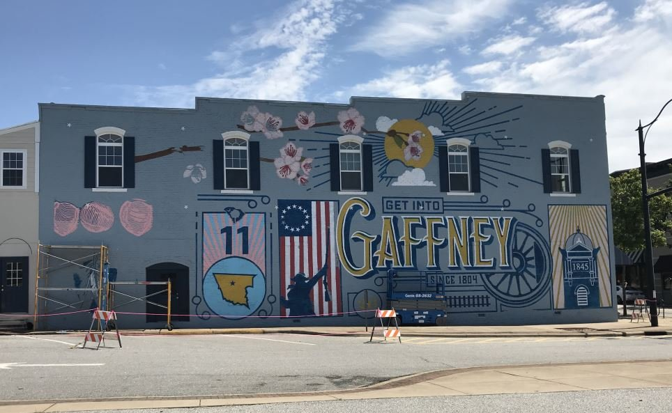 A look at the mural on July 21, 2018 (FOX Carolina)