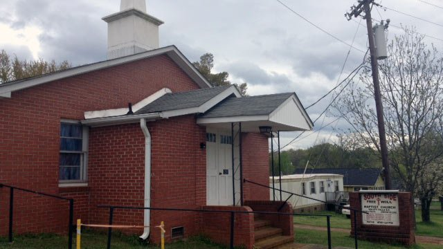 South Side Free Will Baptist Church is located on Upper Valley Falls Road in Boiling Springs. (Mar. 25, 2012/FOX Carolina)