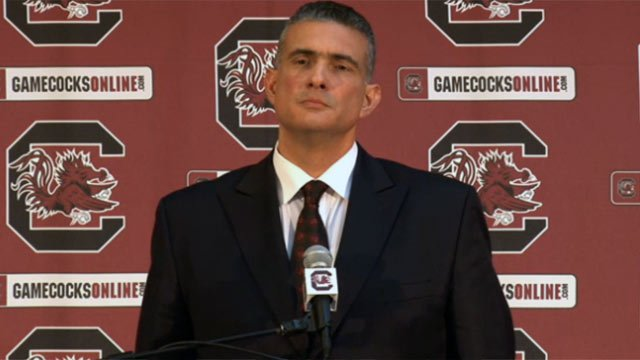 Frank Martin is announced as the new head men's basketball coach. (GamecocksOnline.com)