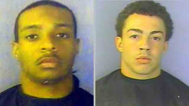 From left to right: Bobby Henderson III and Cameren Jones. (Lander University Police Dept.)