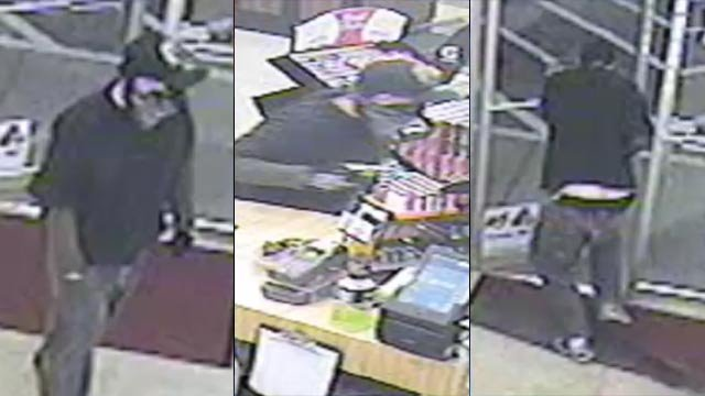 Surveillance photos shot the man deputies say robbed the Circle K store and shot the clerk Monday morning. (April 9, 2012/Spartanburg Co. Sheriff's Office)