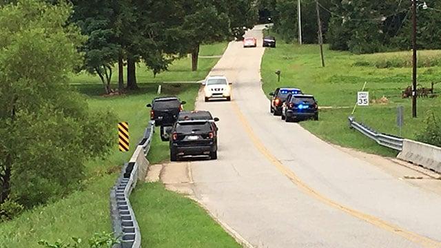 The scene near Highway 8 in Anderson County. (FOX Carolina/ August 7, 2018)