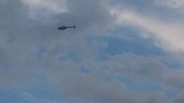 A helicopter searching the area for Webb. (Courtesy: Denise Reece/ August 7, 2018)
