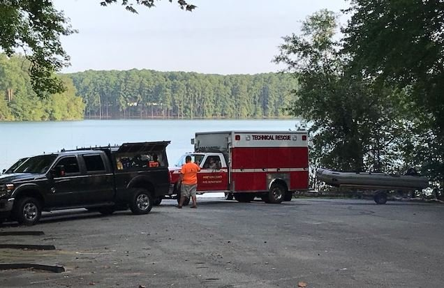 Technical rescue crews pack up after the body was recovered (August 13, 2018/ FOX Carolina0