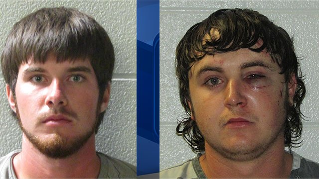 Hunter Wright and James Bradley Owen (Photo: Henderson County S.O./ August 13, 2018)